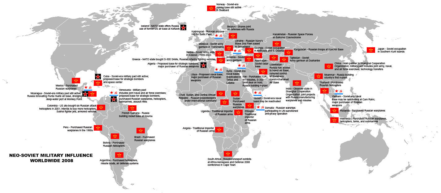 Us Military Map Of Us Military Bases Around The World